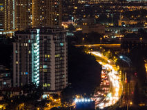 Kuala Lumpur Night Traffic stock afbeeldingen