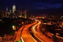 Kuala Lumpur night view Stock Photography