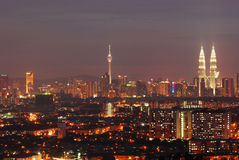 Kuala lumpur in the night view Stock Photo