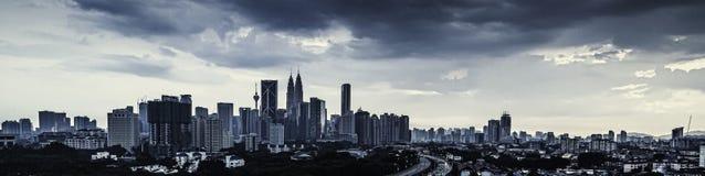 Kuala Lumpur panorama Arkivfoto