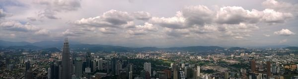 Kuala Lumpur panorama Arkivbild