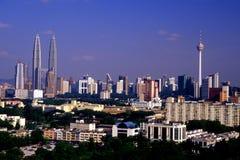Kuala Lumpur panorama- sikt Arkivfoton