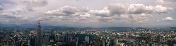 Kuala Lumpur panorama. View of Kuala Lumpur for high-rice building Stock Photography