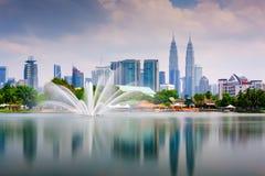 Kuala Lumpur Park Skyline Stock Photos