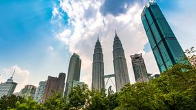 Kuala Lumpur pejzaż miejski Malezja 4K czasu upływ przechyla up zbiory