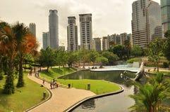 Kuala Lumpur Petronas park Stock Photo