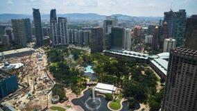 Kuala Lumpur petronas torn kopplar samman Royaltyfri Bild