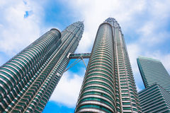 Kuala Lumpur petronas torn kopplar samman Royaltyfria Bilder