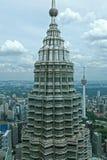 Kuala Lumpur petronas torn kopplar samman malaysia Royaltyfri Foto