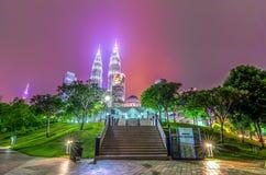 Kuala Lumpur por noche Foto de archivo libre de regalías