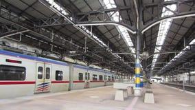 Kuala Lumpur Railway Station, Malaysia. Inside view of the station  - circa January 2017 stock video