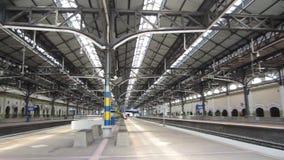 Kuala Lumpur Railway Station, Malaysia. Inside view of the station  - circa January 2017 stock video footage