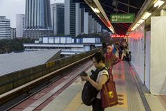 Kuala Lumpur metro. Kuala Lumpur`s metro or rapid transit system consists of 6 metro lines operated by 4 operators. Among the 4 operators, Rapid Rail and KTM Stock Photos