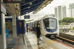 Metro or Rapid Transit in Kuala Lumpur, Malaysia. Kuala Lumpur`s metro or rapid transit system consists of 6 metro lines operated by 4 operators. Among the 4 Royalty Free Stock Photography