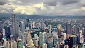 Kuala lumpur& x27;s Skyline - Petronas Twin Towers. A shot clicked from Minara, also called KL Tower stock photography