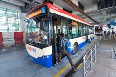 A Rapid KL City bus at the Pasar Seni stop Stock Photos