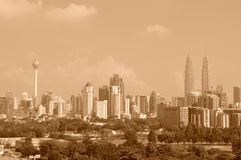 Kuala Lumpur Skyline 1 Stock Photos