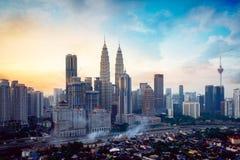 Kuala Lumpur Skyline Fotografie Stock