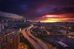 Kuala Lumpur Skyline Imágenes de archivo libres de regalías