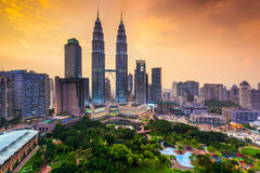 Kuala Lumpur Skyline Stockfotos
