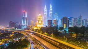 Kuala Lumpur, skyline da cidade de Mal?sia video estoque