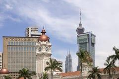 Kuala Lumpur Skyline del cuadrado de Merdeka Fotos de archivo