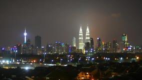 Kuala Lumpur skyline stock footage
