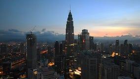Kuala Lumpur skyline stock video