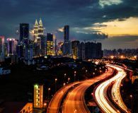 Kuala Lumpur Skyline Malaysia image stock