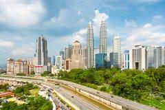 Kuala Lumpur Skyline - Malaysia Royalty Free Stock Photo