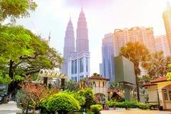 Kuala lumpur skyline, Malaysia Royalty Free Stock Photos
