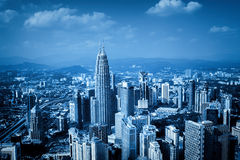 Kuala Lumpur Skyline, Malaysia, Royalty Free Stock Photos