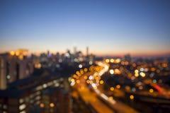 Kuala Lumpur Skyline met Weg Vage Achtergrond royalty-vrije stock foto's