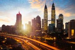 Kuala lumpur skyline Royalty Free Stock Photo