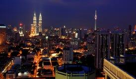 Kuala Lumpur Skyline by Night Royalty Free Stock Images