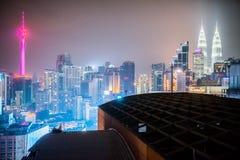 Kuala Lumpur skyline at night time Stock Photography