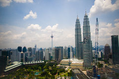 Kuala Lumpur skyline Royalty Free Stock Image