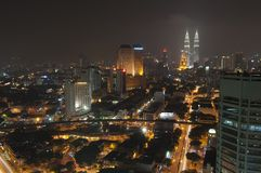 Kuala Lumpur skyline showing skyscrapers Royalty Free Stock Photography
