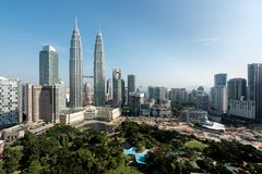 Kuala Lumpur skyline and skyscraper in Malaysia. Downtown busine Royalty Free Stock Photography