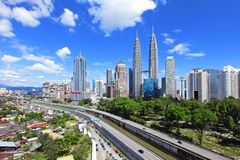 Kuala Lumpur skyline Royalty Free Stock Image