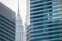 Kuala Lumpur skyline on a sunny day Stock Images