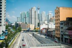 Kuala Lumpur skyline on a sunny day Royalty Free Stock Photos