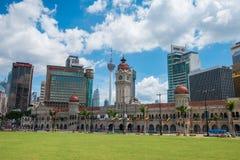 Kuala Lumpur skyline on a sunny day Royalty Free Stock Photography