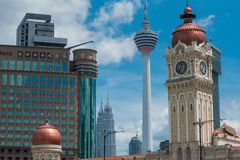 Kuala Lumpur skyline on a sunny day Stock Image