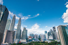 Kuala Lumpur skyline on a sunny day Stock Images