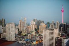 Kuala Lumpur skyline at sunrise Stock Photography