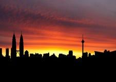 Kuala Lumpur skyline at sunset Stock Photography