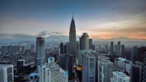 Kuala Lumpur skyline stock video footage
