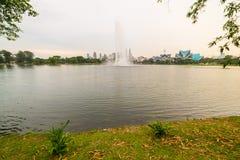 Kuala Lumpur skyline from Titiwangsa Park Royalty Free Stock Images