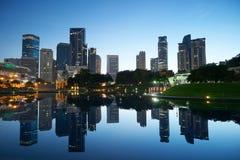 Kuala Lumpur-Skylineansicht vor Sonnenuntergang Lizenzfreies Stockbild